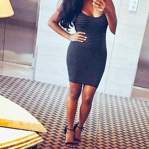 Dresses & Skirts - BETTY - Spandex Striped dress *G
